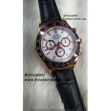 Rolex Daytona ETA 4130 Movement Original Machine White Dial Watch