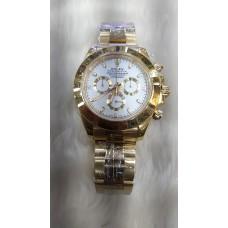Rolex Daytona 18k Gold White Dial ETA 4130 Original Machine Watch