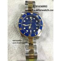 Rolex Submariner Dual Tone Blue Dial Ladies Watch