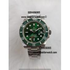 Rolex Date Submariner Green Automatic Men's Watch