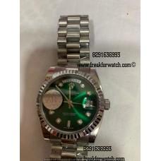 Rolex Day Date Malachite Green Dial Diamond Watch