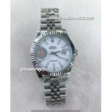 Rolex Datejust Domed Numerals White Dial Men's Watch