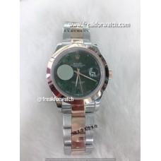 Rolex Datejust Roman Numerals Dual Tone Grey Dial Watch
