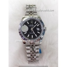 Rolex Datejust Domed Numerals Black Dial Automatic Watch