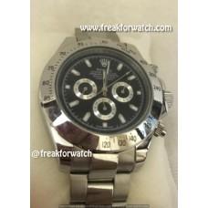 Rolex Daytona Chronograph Automatic Black Clock Face Men's Watch