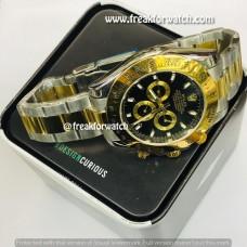 Rolex Daytona Dual Tone Black Dial Luxury Men's Watch