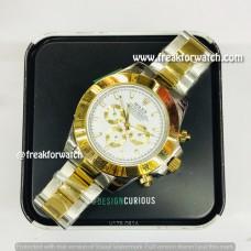 Rolex Daytona Dual Tone White Dial Luxury Men's Watch