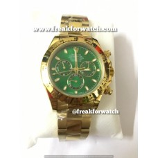 Rolex Daytona Chronograph ETA 4130 Valjoux Original Machine Green Dial Men's Watch