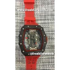 Richard Mille RM 53-01 Tourbillon Pablo Mac Donough Red Strap Watch