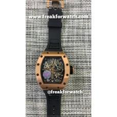 Richard Mille RM055 Bubba Watson Rose Gold Black Dial Men's Watch