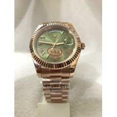 Rolex Day Date Green Dial Rose Gold Automatic Watch