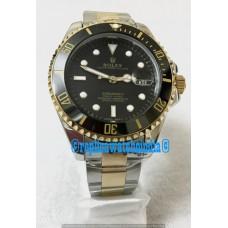 Rolex Date Submariner Dual Tone Black Dial Men's Watch