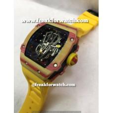 Richard Mille RM27-03 Yellow Forged Carbon Black Skeleton ETA Original Machine Watch