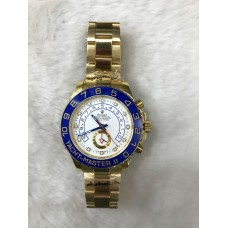 Rolex Date Yacht Master - II Full Gold White Automatic Men's Watch