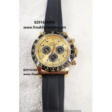 Rolex Daytona Cosmograph Automatic Yellow First Copy Watch