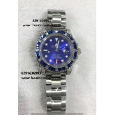 Rolex Submariner Blue Diamond Bezel Automatic Blue Dial Watch
