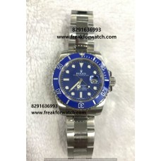 Rolex Date Submariner Automatic Blue Dial Oyster Bracelet Watch