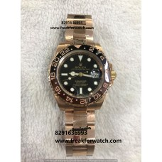 Rolex Date Submariner Oyster Perpetual Rose Gold First Copy Watch Price India