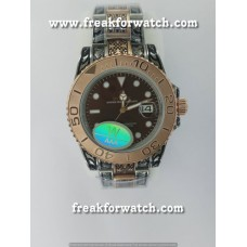 Rolex Datejust Hand Engraved Dual Tone Automatic Watch