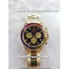Rolex Daytona Rainbow Jewels Diamond Luxury Men's Watch