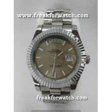 Rolex Day Date Full Steel Grey Automatic Men's Watch