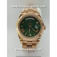 Rolex Day Date Green Automatic Machine Watch