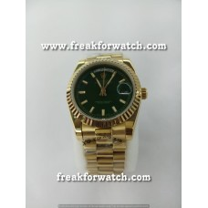 Rolex Day Date Gold Green Dial Automatic Men's Watch